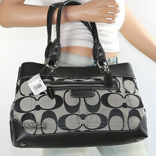 NWT Coach Signature Penelope Shoulder Hand Bag Satchel 14422 Black New RARE