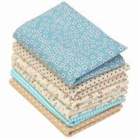 6PCS Lot Fabric Bundle Cotton Quilting Patchwork Sewing Tissue Cloth