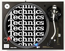 TECHNICS COLLAGE WHITE - DJ SLIPMATS (1 PAIR) 1200's MK5 MK2 or any turntable