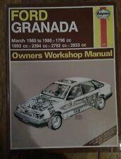 Ford Granada Haynes Manual inc Scorpio  - 1985 to 1988