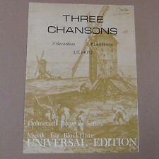 Grabadora de tres grabadores de 3 Chansons, UE 14032, serie Dolmetsch Grabadora
