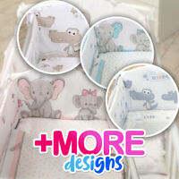 3 or 5 pcs BABY BEDDING SET fit Cot 120x60cm or Cot Bed 140x70 - BABY ELEPHANT