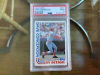 1982 Topps Baseball #661 Dave Concepcion In Action Cincinnati Reds PSA 9 Mint!