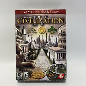 New, Sealed, Sid Meier's 4 Civilization Game of the Year Edition PC Game 2006