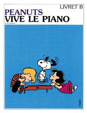 Livre pour piano - June Edison - Peanuts - Vive le Piano - Volume B