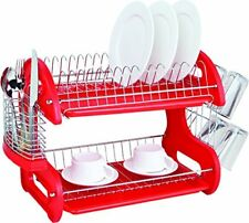 Kitchenaid Dish Drying Rack Utensil Holder Sink Cup Drainer Plate 2 Tier Plastic