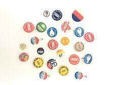 24 Vintage Advertising Pins Buttons