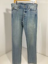 ABERCROMBIE & FITCH MEN'S BUTTON FLY SKINNY JEANS 33/34 $78 NWT