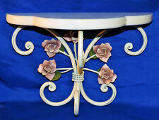 Romantic Shabby Chic, Mauve Roses, Wall Shelf French Country Cottage
