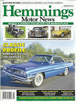 HEMMINGS MOTOR NEWS, FEBRUARY, 2016 ( WORLD'S LARGEST COLLECTOR-CAR MARKET PLACE