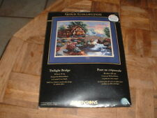 Dimensions Gold Collection Counted Cross Stitch Kit 35172 Twilight Bridge NEW