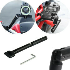 Black Motorcycle Aluminium Alloy Fixed Rotatable Extended Bracket For Headlight