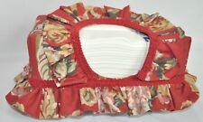 Ruffled Tissue Box Cover made w Ralph Lauren Marseilles Danielle Floral Fabric
