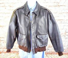 COOPER, A-2 US Air Force, Brown Goatskin Leather, Mens Bomber Jacket 40R EUC 💎