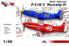 1/48 NA P-51B-C Mustang III Racing Record - NEW AMG kit (decal, PE, resin) !