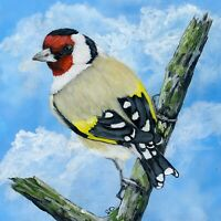 Goldfinch Wild Bird Painting, PRINT from an original Watercolour Painting