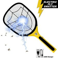 More details for bug zapper racket fly killer electric wasp mosquito insect pest swatter bat usb