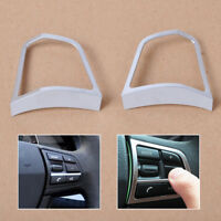 New Chrome Steering Wheel Switch Cover Trim for BMW 5 Series F10 520 528 535i