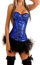 Adult Costume Lingerie Sequin Corset Bustier Top + Pettiskirt Tutu's Size CB17