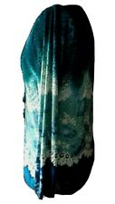 Size L 16  Animal Print Mix Teal Petrol Blue Black 2 In 1 Ruffled Silky Top
