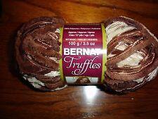 Bernat Truffles ruffle yarn NEW 3.5 oz 1 ball Chocolate Brown