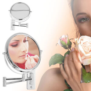 Round 2-Side 3X Extending Magnifying Mirror Makeup Bathroom Shaving Mirror Wall