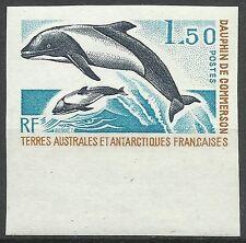 Taaf Fsat Dauphin Panda Dolphin Jacobita Delfine Non Dentele Imperf Proof **1976