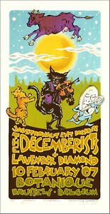 The Decemberists Poster Original Signed Silkscreen by Gary Houston 2009