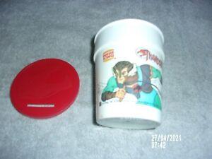 """VINTAGE BURGER KING PEPSI THUNDERCATS CHETARA CUP/BANK 3"""" WITH LID"""