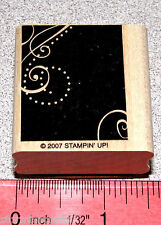 Background Design Rubber Stamp Single Tag Size Clean by Stampin Up Priceless