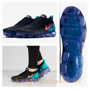 Nike Wmns VaporMax 2.0 Flyknit Black/Hot Punch 942843-003 Size 8 UK