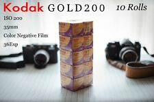 Brand new 10 Rolls KODAK GOLD200 35mm 135 36Exp color Negative Film