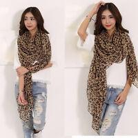 Fashion Women's Leopard Chiffon Scarf Lady Long Soft Wrap Shawl Scarves Stole