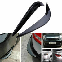 Pair Rubber Universal Car Auto Vehicle Front Bumper Corner Protector Lip Guard