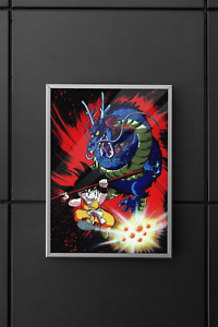 Dragon Ball Z Super Poster Goku Poster Vintage Wall Art design Size A4 A3 A2