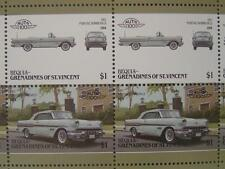 1957 PONTIAC BONNEVILLE (Parisienne) Car 50-Stamp Sheet / Leaders of the World