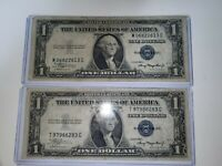 1935 Silver Certificate  # B One Dollar Bills Two Bills United States Currency