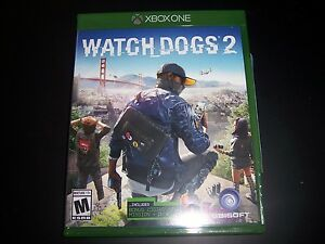 Replacement Case (NO  GAME) WATCH DOGS 2 TWO XBOX ONE 1 XB1 100% ORIGINAL BOX
