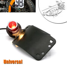 12V Motorcycle Bike LED Metal Brake License Plate Stop Tail Red Indicator Light