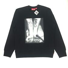 NWT Supreme x Slayer Mens Black Cutter Photo Print Crewneck Sweatshirt AUTHENTIC