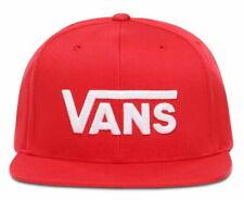VANS Drop V Snapback Cap In Racing Red