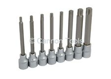 "8pc 1/2"" Drive Extra Long Torx Star Socket Bit Set"