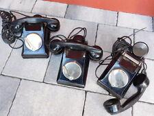vintage 3 TELEPHONE BAKELITE PTT marine CGAM old phone ALT TELEFON radio FRANCE