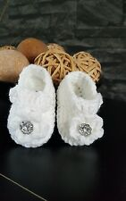 Hand made crochet booties / shoes for baby girl 0-3months AWAY TIL 10TH DEC