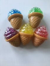 💛 Gel Jelly Ice Cream Cone Squishy Anti Stress Squeeze Ball Stress Reliever 🍦