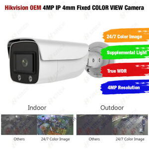 Hikvision DS-2CD2T47G1-L OEM 4MP IP 24/7 Full Time ColorVu 2.8mm Bullet Camera