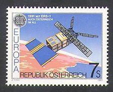 "Autriche 1991 Europa/Espace/""ERS-1""/SATELLITE/Dimensions/Weather 1 V (n38066)"