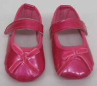 Bébé Filles chaussures rouge rose verni cuir naissance à 12 mois NEUF velours