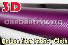 Fibra de carbono, Tela / Paño Rotulación pegatina púrpura 100mm X 1350mm