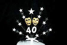 Oscar Night / Theatre Mask with Feathers Birthday/ Occasion Cake Topper
